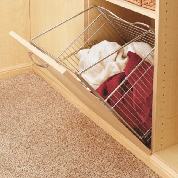 wardrobe large wire basket - hamper