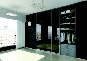 room divider black finish