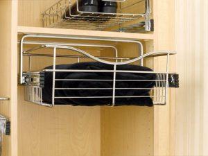 wardrobe under hang wire basket