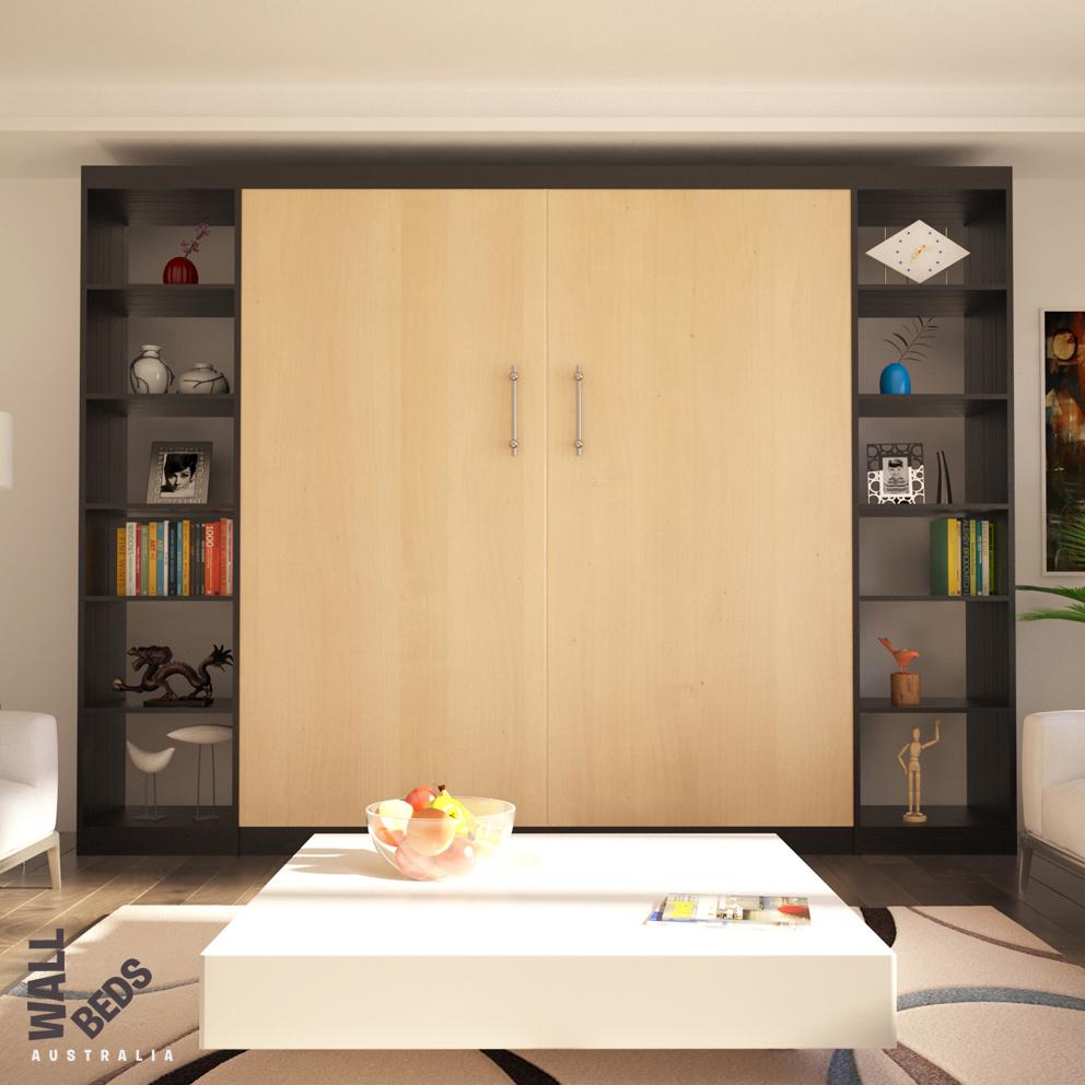 Alpha Bed Open Shelves Closed