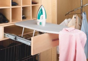 pull out wardrobe iron accessory