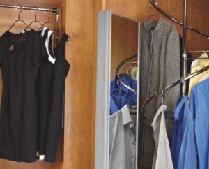 spiral wardrobe hanging