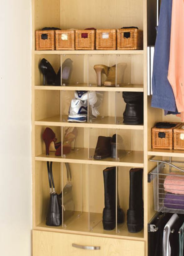 Shoe Organizer Acrylic Dividers for Wardrobe