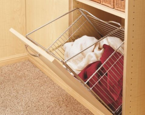 Hamper Door Mounted Tilt-Out Basket for Wardrobe