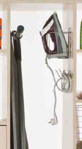 walk in wardrobe iron holder