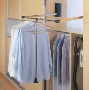 wardrobe pull out shirt rack