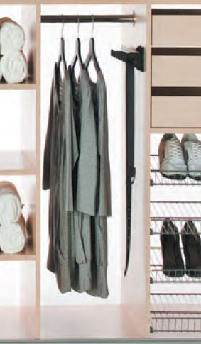 Pull out belt rack
