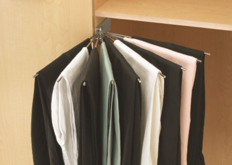 pull out wardrobe pant rack non slip