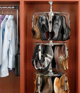 shoe carousel walk in wardrobe corner