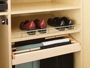wardrobe shoe display