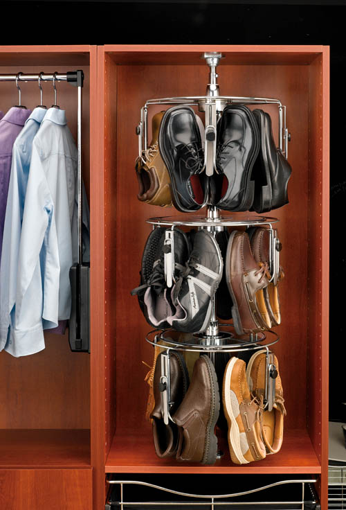 wardrobe shoe carousel mens