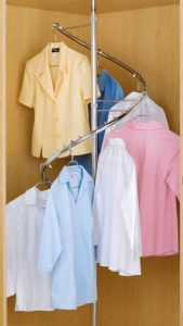 spiral clothes rack walk in wardrobe