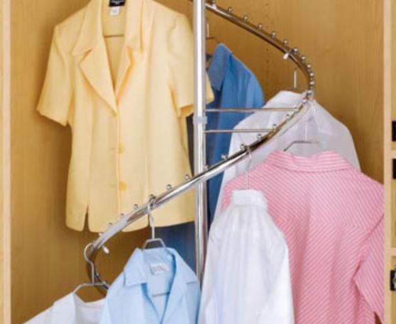 wardrobe shirt spiral rack
