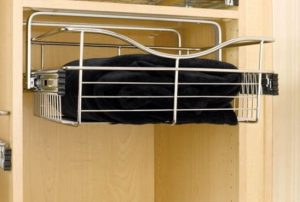 top mount bracket wire basket