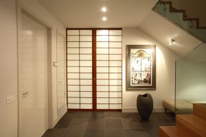 shoji screen room divider closed