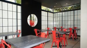 cafe shoji screen and doors surround